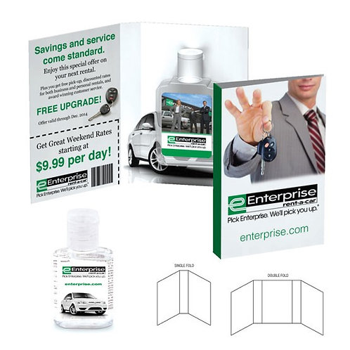 Hand Sanitizer with Printed Card