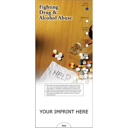 Fighting Drug and Alcohol Abuse Slide Chart