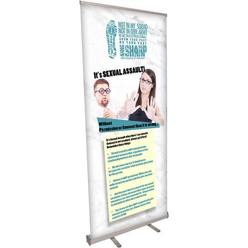 Its Sexual Assault Civilian Retractable Banner
