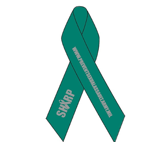 ":5/8"" x 3 1/2"" Awareness Ribbon (folded) Imprinted with Tape"
