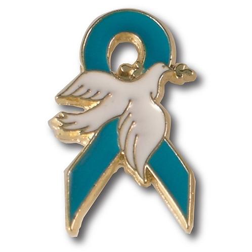 LM00132 Awareness Dove Pin