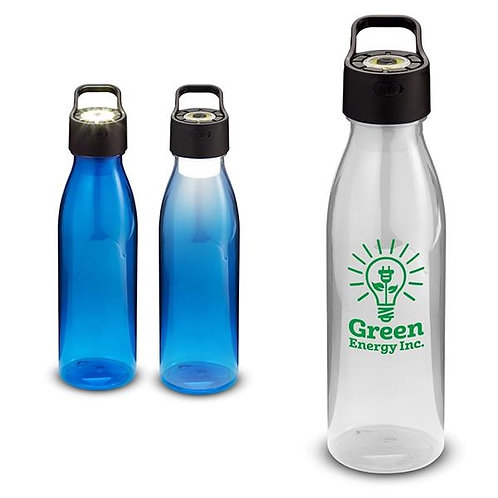 LM89551 : 24 oz water bottle with rechargeable COB light.