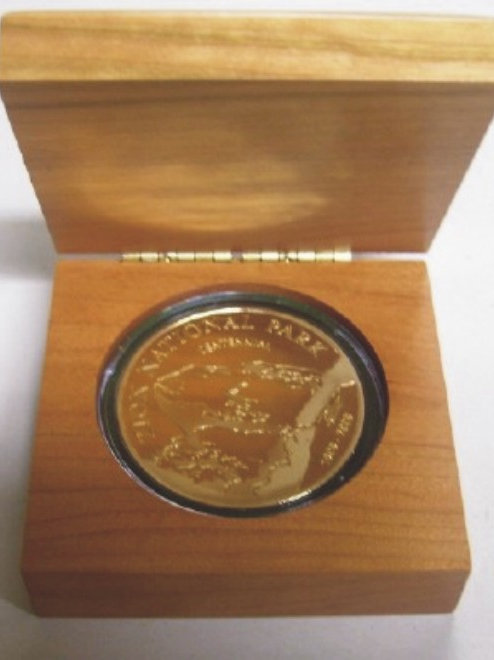 "LM34526 3"" x 3"" - Hardwood Box Laser Engraved Coin Box"