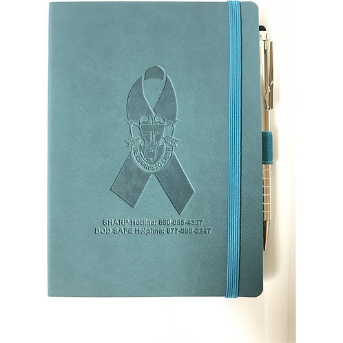 LM7006 Awareness Soft Bound Suede Journal with Stylus Pen