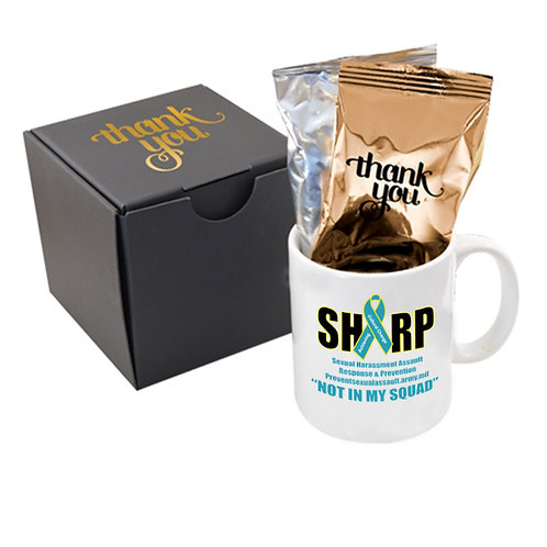 LM32498-A  Soft Touch Gift Box with Full Color Mug and Gourmet Coffee