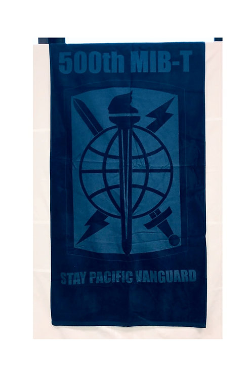 LM2123 Colored Beach Towel with Tone on Tone Imprint