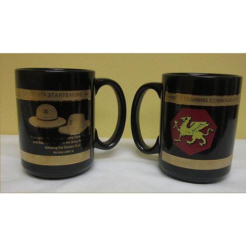 LM 1292 Black Coffee Mug with Gold Band