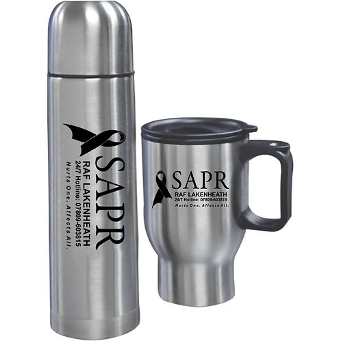 LM2618G Bullet Flask and Thermal Mug Set