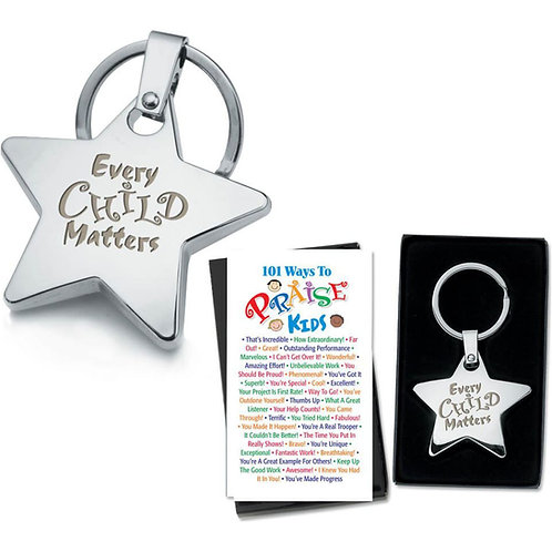 LM5503 Sample Request Quick Quote Every Child Matters Star Key Tag & 2-Sided Pra
