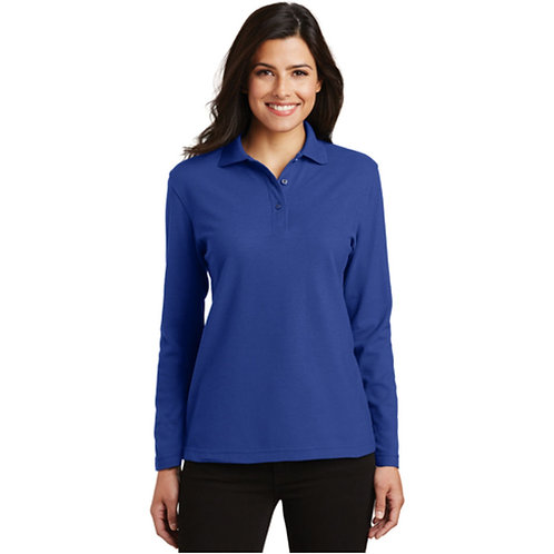 LM3610 Port Authority® Ladies Silk Touch™ Long Sleeve Polo