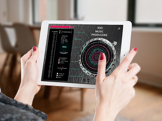 Data Visual Ipad Mockup