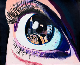 Acrylic Eye Painting