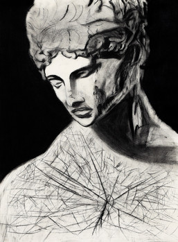 Statue Drawing Pencil & Charcoal