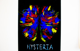 Hysteria -Gauche Abstract Brain Painting