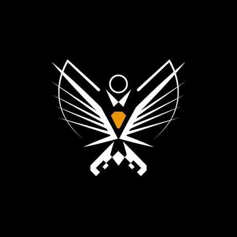 Abstract Tux Logo illustration