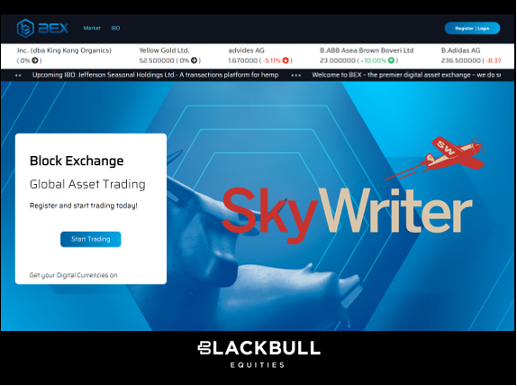 Los Gatos (USA): Skywriter Systems Inc. Shares Are Admitted for Listing on the Block Exchange