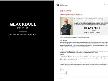 "New York (USA): Blackbull Equities Advisory Releases Brochure ""Block Exchange Listing"""