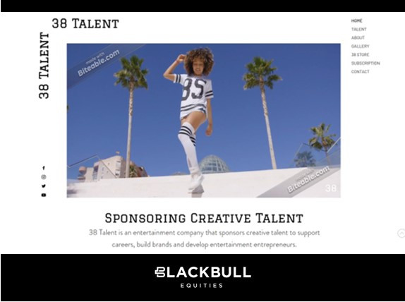 London (United Kingdom): Blackbull Partners with 38Talent to Sponsor Talent in Entertainment