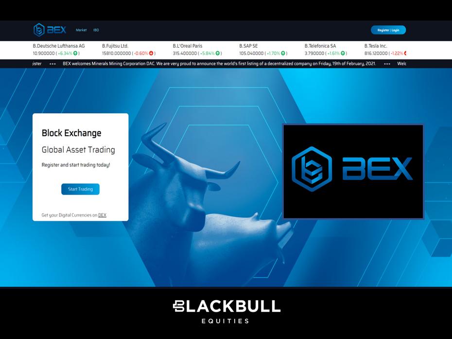 London (United Kingdom): Blackbull Receives BEX Block Exchange Mandate for Capital Market Listing