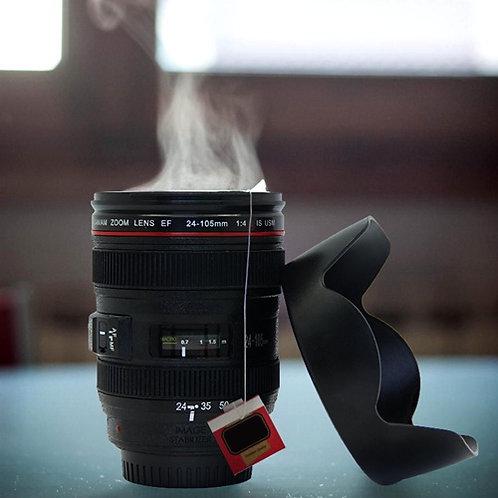Vaso lapicero con forma de lente