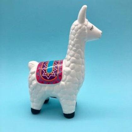 """Alcancía de cerámica """"Llama"""""""