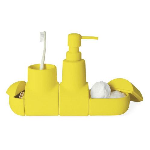 Dispenser de Jabon Liquido Porta Cepillo y pasta Submarino