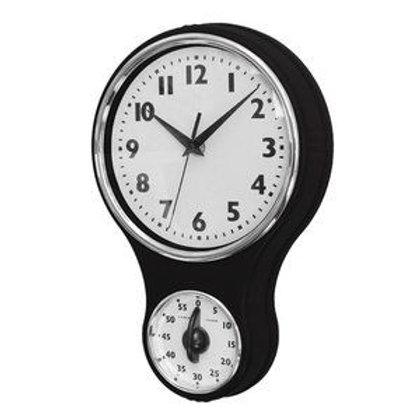 Reloj de pared vintage con timer