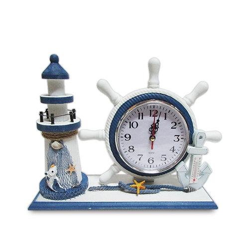 Reloj de mesa Faro y Timón