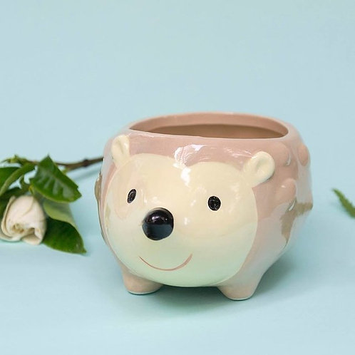 Maceta de cerámica erizo