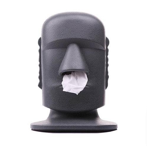 Dispensador de pañuelos de papel desechables moái