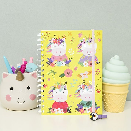 """Cuaderno """"Unicornios Floreados"""""""