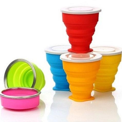 Vaso de silicona plegable