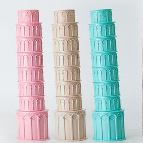 "Set de recipientes apilables ""Torre de Pisa"""