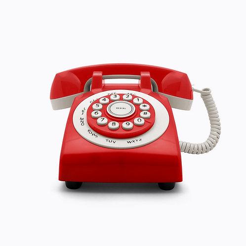 Teléfono Retro Phone 70' Rojo