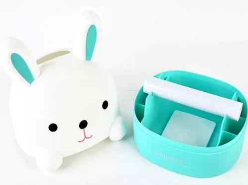"Porta rollo de papel higiénico o dispenser de pañuelos ""Conejo"""