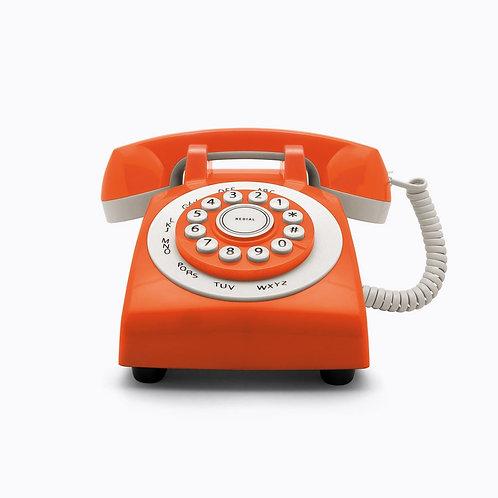 Teléfono Retro Phone 70' Naranja