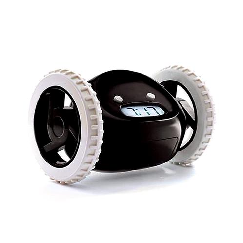 Reloj despertador fugitivo con ruedas