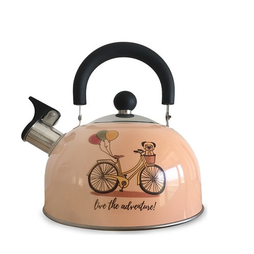 Pava vintage silbadora acero inoxidable con diseño