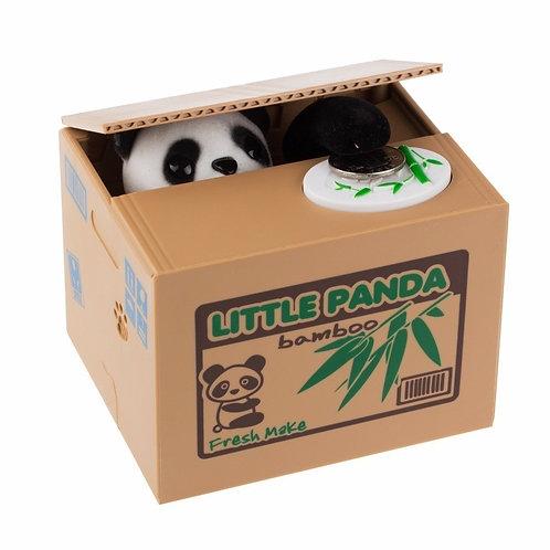 Alcancía electrónica gato oso panda robamonedas