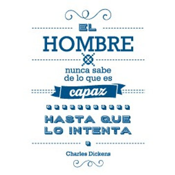 """Imán con frases """"C. Dickens"""""""