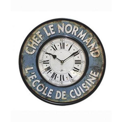 Reloj de pared de metal 39 cm