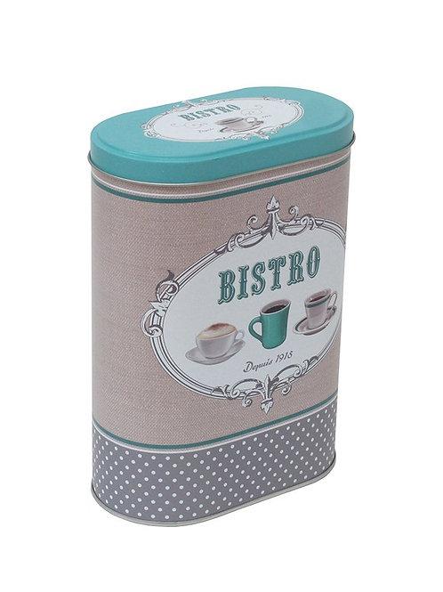 """Lata para Café """"Bistro"""" 14 x 19 cm"""