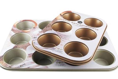 Fuente antiadherente Muffins x 12