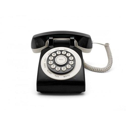Teléfono Retro Phone 70' Negro