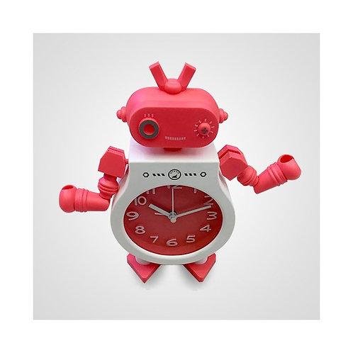 Reloj despertador robot plástico