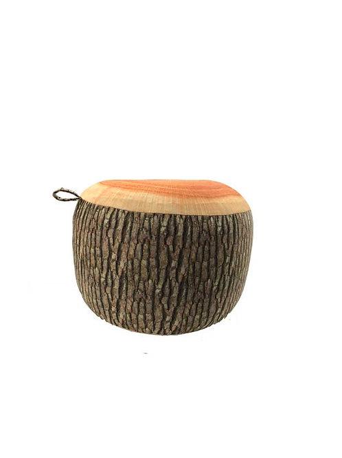 Puff butaca inflable madera