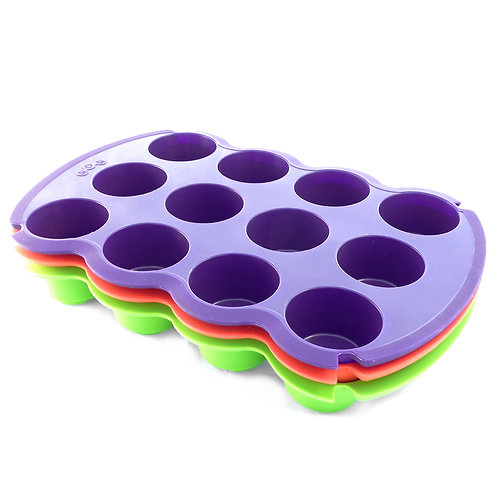 Muffinera molde de silicona x12