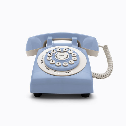 Teléfono Retro Phone 70' Celeste