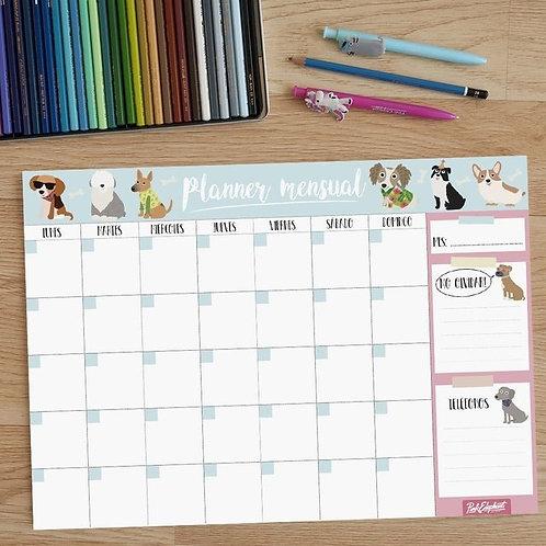 """Imán Organizador Mensual 12 hojas """"Perritos"""""""