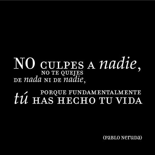 "Imán con frases ""Pablo Neruda"""
